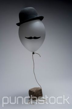 Hat/Mustache ballon decor