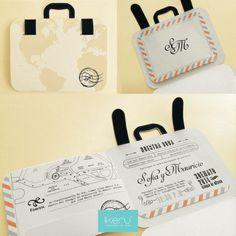 Wedding invitation (suitcase)