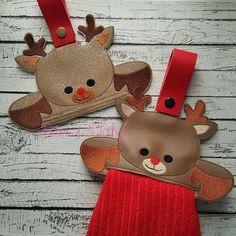 Reindeer Towel Topper ITH