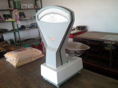 The scale in the shop in Noenieput, small town, near Obobogorob.
