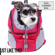 Pet Travel Backpack The Carrier Kingdom Pet Backpack is a wonderful and convenient carrier when you want to take your pet with you, while keeping your hands free. Keep scared pets safe and comfortable Cat Backpack Carrier, Dog Carrier Bag, Dog Backpack, Pet Dogs, Dog Cat, Pet Pet, Animals And Pets, Cute Animals, Pet Travel