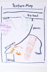 Second grade Social Studies activity: Create a Texture Map