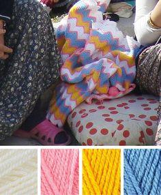 Turkey crochet inspiration: ripple stitch blanket | Happy in Red