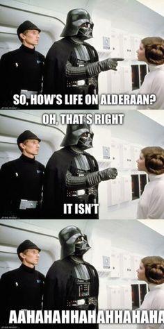 Darth Vader Alderaan