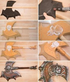 Axe tutorial using EVA foam. Kamui Cosplay.
