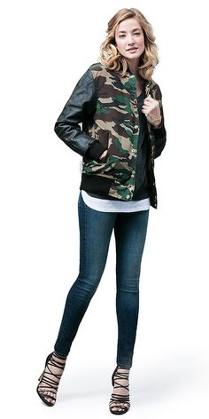 I love the trend of incorporating subtle bits of camo into your look.