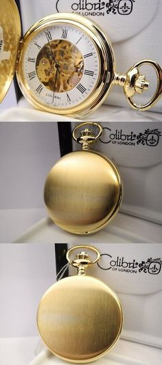 f4df925bc Other Pocket Watches 398: Colibri 17 Jewel Skeleton Goldtone Pocket Watch  New As-Is Reduced -> BUY IT NOW ONLY: $54.99 on #eBay #other #pocket # watches ...