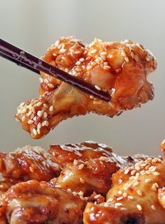 Fried Spicy Sesame Chicken Wings Recipe