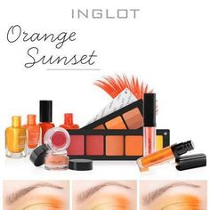 #Inglot #sunsethues #Orange #Makeup #Morninglook