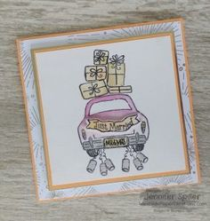 A fun little watercolor with the Stampin' Up! stamp set Wonderful Life!