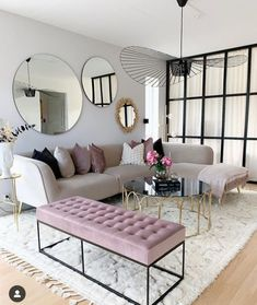 Having small living room can be one of all your problem about decoration home. To solve that, you will create the illusion of a larger space and painting your small living room with bright colors c… Living Room Mirrors, Cozy Living Rooms, Living Room Grey, Home Living Room, Apartment Living, Interior Design Living Room, Living Room Decor, Furniture For Living Room, Decorate Apartment