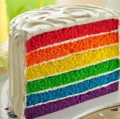 Now, this's what I call a rainbow layered cake