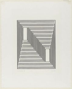 To Monte Alban from the series Graphic Tectonic - Josef Albers (American, born Germany. 1888–1976)