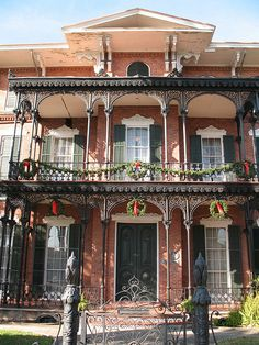 Galveston Victorian / Ashton Villa Took many a visitor on the tour of this home when we lived in Houston. Reminds me of New Orleans Unusual Buildings, Beautiful Buildings, Beautiful Homes, Beautiful Places, Victorian Architecture, Architecture Details, Southern Architecture, Historic Architecture, Galveston Texas