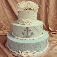 Perfect wedding cake for our cruise wedding