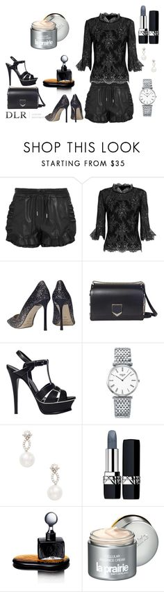 """DLRBOUTIQUE.COM"" by ice87 ❤ liked on Polyvore featuring Carven, Oscar de la Renta, Jimmy Choo, Yves Saint Laurent, Longines, Inner Circle Jewelry, Christian Dior, Agonist and La Prairie"