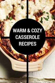It's time for meals that are the food equivalent of a woolly sweater and warm socks: enjoy one of these cozy casserole recipes tonight. Quick Pasta Recipes, Yummy Chicken Recipes, Yum Yum Chicken, Quick Easy Meals, Easy Dinner Recipes, Yummy Food, Yummy Recipes, Casserole Recipes, Soup Recipes