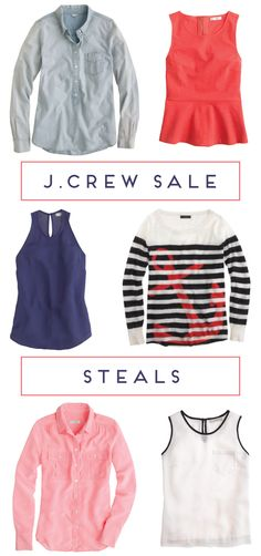 j.crew end-of-summer sale steals: six tops for 30% off!