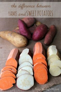 What's the difference between yams and sweet potatoes?Yams vs. Sweet Potatoes | What's the difference?  A comparison of different types of yams and sweet potatoes