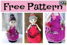 Crochet Crafter Granny Organizer - Free Pattern  #crocheting #freepattern