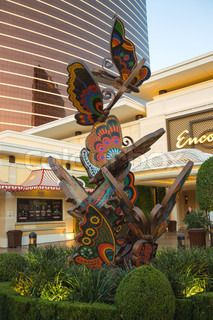 Sculptural composition depicting butterflies near Encore Hotel in Las Vegas