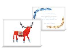 Weihnachtsgrußkarten Christmas Deer 01