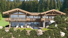 Chalet Design, Chalet Style, Alpine Style, Villa, Amazing Buildings, Cecile, Forest House, Mountain Homes, Mountain Resort