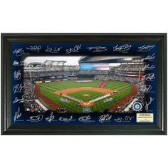 "Highland Mint Seattle Mariners 12"" x 20"" Panoramic Field Signature Photo"
