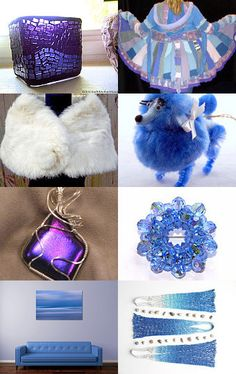 Purple Blue and White Christmas in July by eye glo arts--Pinned with TreasuryPin.com