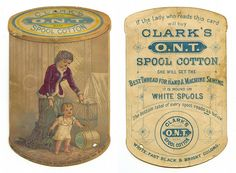Vintage ad for Clark's O.N.T. spool cotton. A rather straightforward approach!
