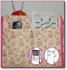 Free Walker Tote Bag Pattern + Knitting Bag Sewing ePattern by BucketsGoneWild  & Stitch This Designs