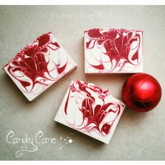 Candy Cane handmade artisan soap by Euphoria Soap Works.
