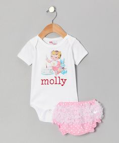 Take a look at this Pink Birthday Personalized Bodysuit & Diaper Cover - Infant by Gus & Lola on #zulily today!
