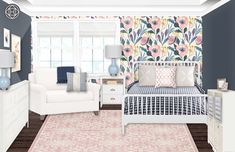 Let Havenly create your dream space through a fun and affordable online design process. All online. Preppy Bedroom, Bedroom Decor, Cute Teen Rooms, Small Room Design, Toddler Bed, Sweet Home, Interior Design, Design Process, House