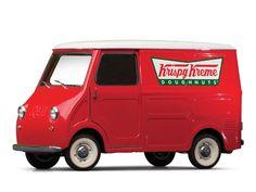 "1963 Goggomobil TL-250 Transporter ""Krispy Kreme""   SPECIFICATIONS Manufacturer: Hans Glas GmbH Origin: Dingolfing, Germany Production: 3,665 Motor: Glas vertical twin, 2-stroke Displacement: 247 cc Power: 14 hp Length: 9 ft. 6.5 in."