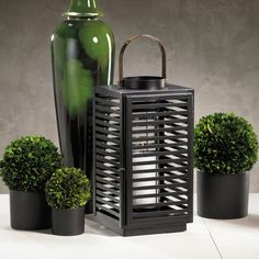 Miramar Black Lantern with Copper Handle -  - CARLYLE AVENUE - 1