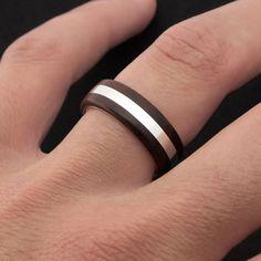 Anillo de plata y madera de palo violeta. Sterling Silver and Kingwood Ring. Wooden Ring by Adam Ballester Joyas