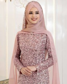 Elegant Makeover Looks – Jena Downs Modern Hijab Fashion, Islamic Fashion, Abaya Fashion, Muslim Fashion, Muslimah Wedding Dress, Hijab Wedding Dresses, Pakistani Bridal Dresses, Hijab Evening Dress, Hijab Dress Party