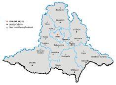 Slepá Mapa Jihomoravského Kraje | Mapa Map, Location Map, Maps