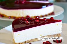 Cheesecake cu rodie Cheesecake, Deserts, Sweets, Check, Recipes, Food, Gelatin, Sweet Pastries, Postres