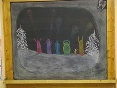 This was a first grade lesson and the drawing was added to by the teacher as the lessons continued day to day. The little tooth in the top right corner with the number is how many teeth have been lost in this small class since the beginning of the year.