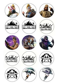 FORTNITE Cupcake Toppers Or Buttons Printable A4