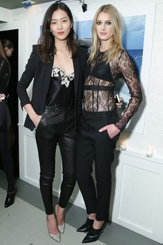 Liu Wen & Sigrid Agren in La Perla #redcarpet #style #fashion