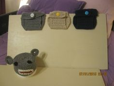 grey cover and monkey hat $10.00 tan and blue $5.00 each