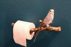 idée couleur mur et porte rouleau pour les toilettes: