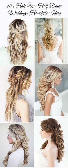 20 gorgeous half up half down wedding hairstyle ideas