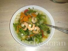 Легкий креветочно-овощной супчик