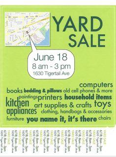 Yard Sale sign idea