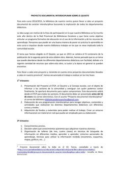 Proyecto interdisciplinar El Quijote