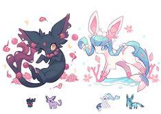 World of Our Fantasy Pokemon Mix, Pokemon Eevee Evolutions, Pokemon Fusion Art, Pokemon Funny, Bulbasaur, Kawaii Drawings, Cute Drawings, Pokemon Breeds, Cute Pokemon Pictures